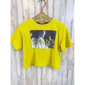 Selena cropped graphic t-shirt